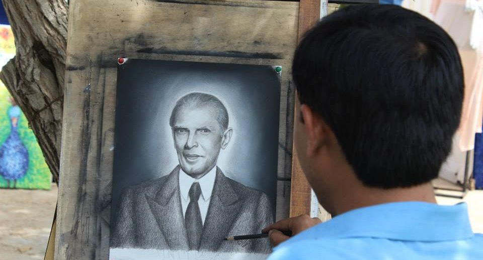 quaid e azam portrait