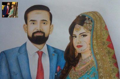 Colour Pencil Sketch Portrait on Demand