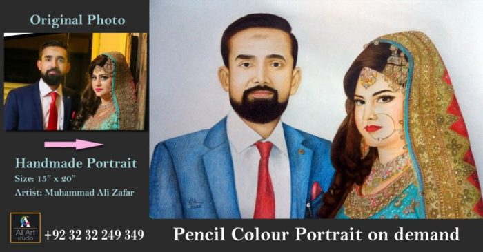 colour pencil drawing portrait